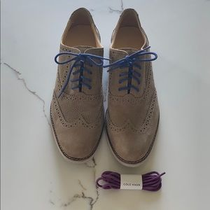 Cole Haan Size 7 Ladies Leather Suede Wing Tips!